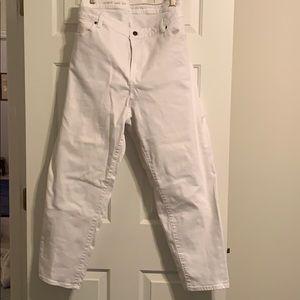 Talbots White Jeans 24W